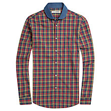 Buy Plectrum by Ben Sherman Tartan Check Shirt, Blue Online at johnlewis.com