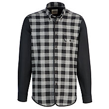 Buy Plectrum by Ben Sherman Gingham Contrast Sleeve, Black Online at johnlewis.com