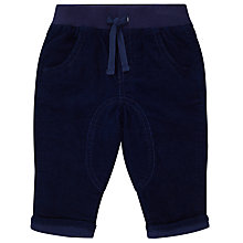 Buy John Lewis Baby Corduroy Trousers, Navy Online at johnlewis.com