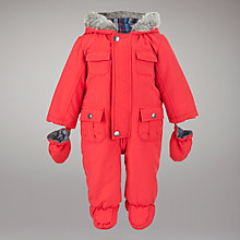 Buy John Lewis Baby Sport Style Snowsuit, Red Online at johnlewis.com