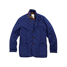 Buy Joules Hilwood Quilted Jacket, Navy Online at johnlewis.com