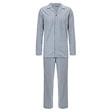 Buy John Lewis Brushed Cotton Stripe Pyjamas, Grey Online at johnlewis.com