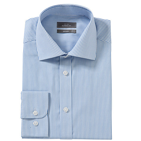 Buy John Lewis XL Sleeves Bengal Stripe Shirt, Blue Online at johnlewis.com