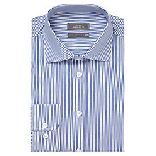 Buy John Lewis XS Sleeve Bengal Stripe Regular Fit Shirt, Navy Online at johnlewis.com