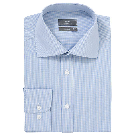 Buy John Lewis Fine Check Shirt, White/Navy Online at johnlewis.com