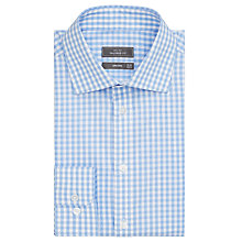 Buy John Lewis Large Gingham Shirt, Blue Online at johnlewis.com