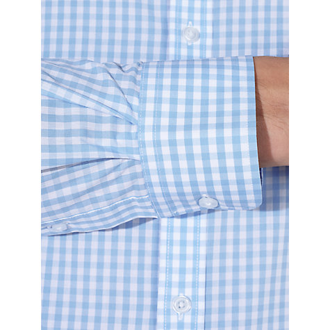 Buy John Lewis Large Gingham Tailored Shirt, Blue Online at johnlewis.com