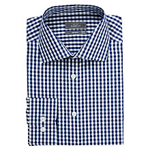 Buy John Lewis Large Gingham Shirt, Navy Online at johnlewis.com