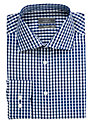 Buy John Lewis Large Gingham Shirt, Navy, 17.5 Online at johnlewis.com