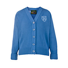 Buy Sherborne House School Girls' Cardigan, Blue Online at johnlewis.com