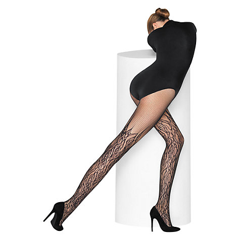 Buy Wolford Fire Net Tights, Black Online at johnlewis.com
