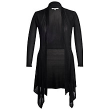 Buy Chesca Ribbed Waterfall Cardigan, Black Online at johnlewis.com