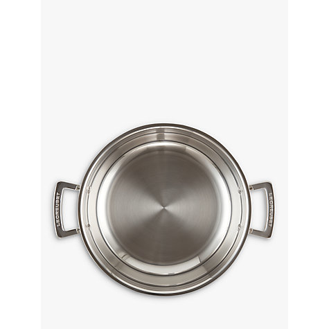 Buy Le Creuset 3-Ply Stainless Steel Shallow Casseroles Online at johnlewis.com