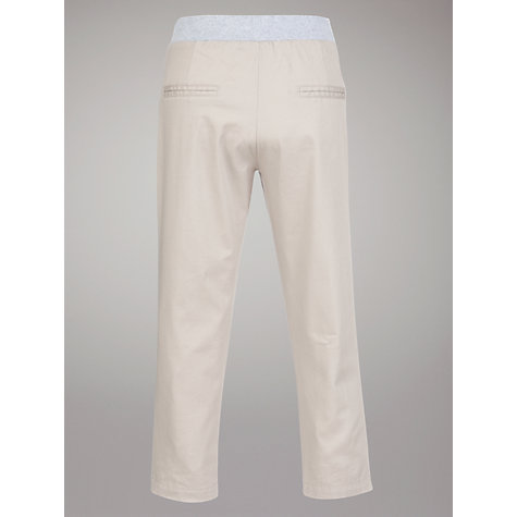 Buy John Lewis Girl Twill Trousers, Natural Online at johnlewis.com