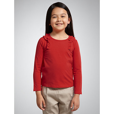 Buy John Lewis Girl Frill Detail Long Sleeved Top Online at johnlewis.com