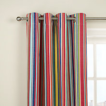 Buy John Lewis Bright Stripe Lined Eyelet Curtains, Multi Online at johnlewis.com