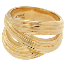 Buy Etrusca Multi Band 18ct Gold Plated Bronze Ring, Gold Online at johnlewis.com