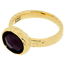 Buy Etrusca 18ct Gold Plated Bronze Ruby Zoisite Cabouchon Ring, Gold / Purple Online at johnlewis.com