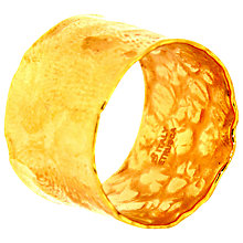 Buy Etrusca 18ct Gold Plated Satin Hammered Ring Online at johnlewis.com