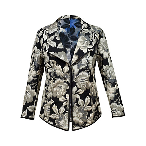 Buy Chesca Floral Print Jacket, Iris Online at johnlewis.com