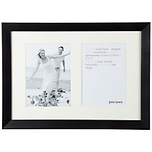 "Buy John Lewis Photo Frame, Black, 2 Aperture, 5 x 7"" (13 x 18cm) Online at johnlewis.com"