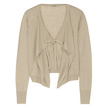 Buy Jigsaw Fine Linen Tie Bow Drop Cardigan Online at johnlewis.com