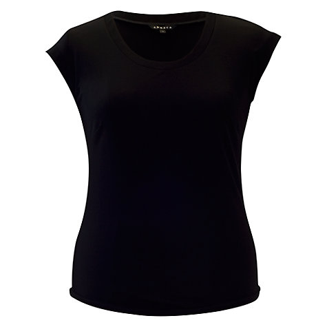 Buy Chesca Jersey T-Shirt, Black Online at johnlewis.com