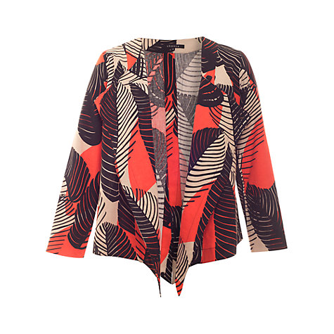 Buy Chesca Jungle Print Jacket, Java/Black Online at johnlewis.com