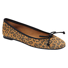 Buy Hobbs Fifi Square Toe Suede Ballerina Pumps, Leopard Online at johnlewis.com