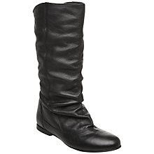 Buy Dune Melissa Slouch Calf Boot, Black Online at johnlewis.com