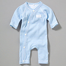 Buy Teddy & Me Striped Romper Suit, Blue Online at johnlewis.com
