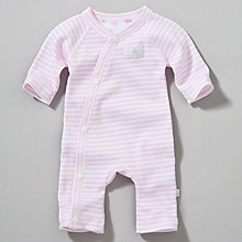 Buy Teddy & Me Striped Romper Suit, Pink Online at johnlewis.com