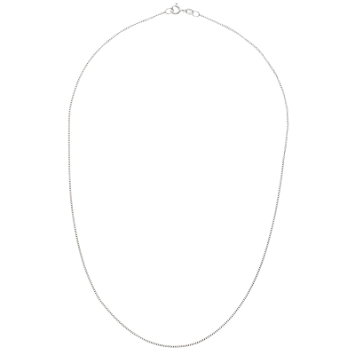 Nina B 9ct White Gold Curb Chain Necklace