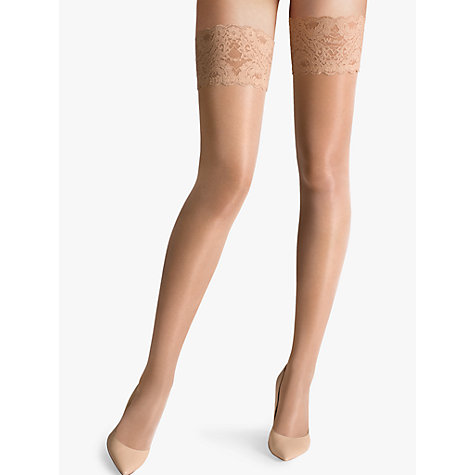 Buy Wolford Satin Touch Hold Ups, Gobi Online at johnlewis.com