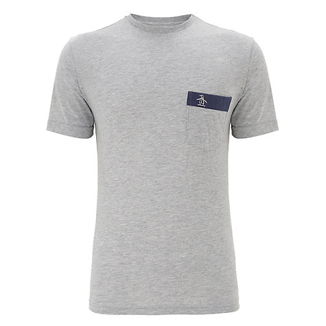 Buy Original Penguin Seam Embroidered Pocket T-Shirt Online at johnlewis.com