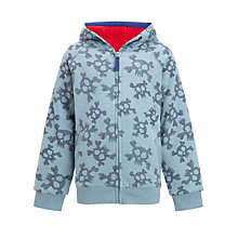 Buy John Lewis Boy Skull Hoodie, Blue Online at johnlewis.com