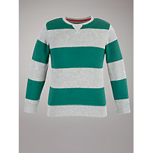 Buy John Lewis Boy Striped Top, Green/Grey Online at johnlewis.com