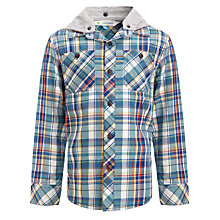 Buy John Lewis Boy Hooded Checked Shirt Online at johnlewis.com