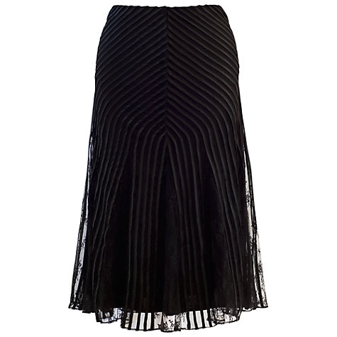 Buy Chesca Lace Mesh Skirt, Black Online at johnlewis.com