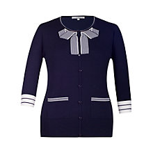 Buy Chesca Tipping Stripe Bow Jumper, Navy Online at johnlewis.com