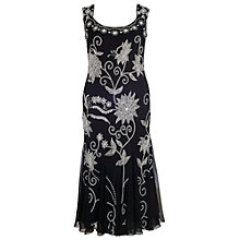 Buy Chesca Embroidery Beading Dress, Black Online at johnlewis.com