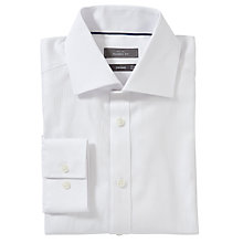 Buy John Lewis XS Sleeves Non-Iron Self Stripe Shirt, White Online at johnlewis.com