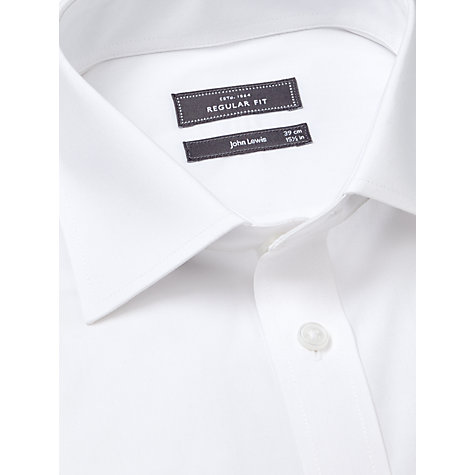 Buy John Lewis Pima Cotton Double Cuff Regular Fit Shirt, White Online at johnlewis.com