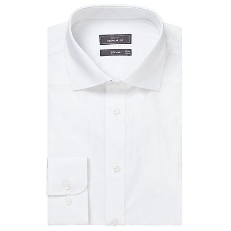 Buy John Lewis Pima Cotton Single Cuff Shirt, White Online at johnlewis.com