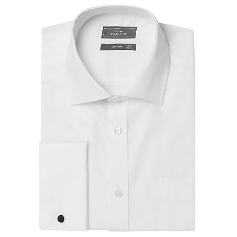 Buy John Lewis Non-Iron Rib Twill Double Cuff Shirt Online at johnlewis.com
