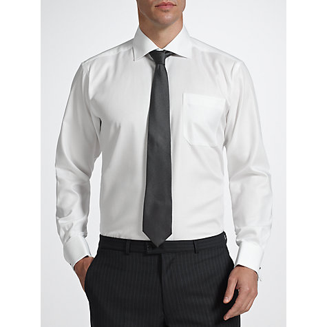 Buy John Lewis Non Iron Rib Twill Double Cuff Classic Fit Shirt Online at johnlewis.com