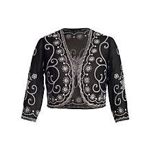 Buy Chesca Embroidery Beading Bolero, Black Online at johnlewis.com