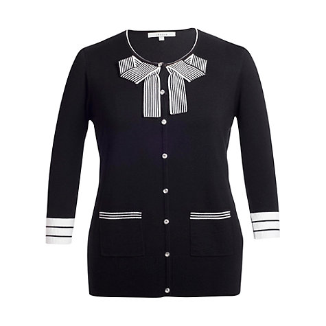 Buy Chesca Bow Jumper, Black Online at johnlewis.com
