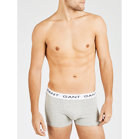 Buy Gant Basic Cotton Trunks, Pack of 3, Multi Online at johnlewis.com