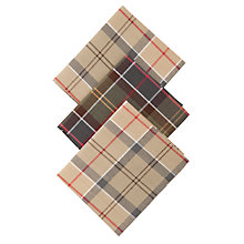 Buy Barbour Tartan Cotton Handkerchiefs, Pack of 3, Multi Online at johnlewis.com
